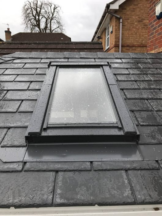 Vellux window in new conservtory roof